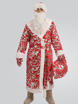 Блестящий костюм деда мороза