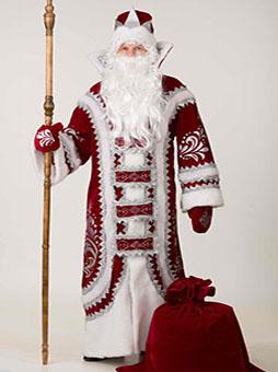 купеческий бордовый костюм деда мороза