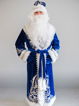 боярский синий костюм Деда Мороза