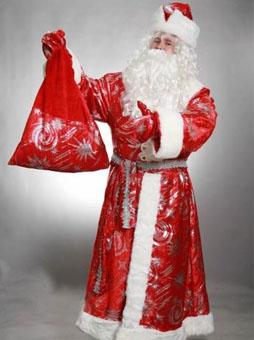 Дед Мороз с узорами.