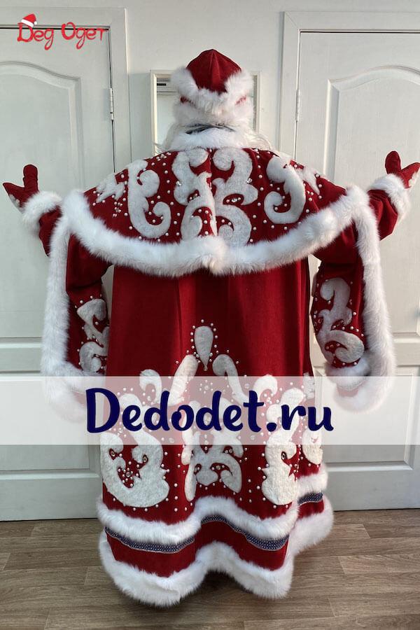Костюм Деда Мороза вид сзади.