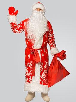 меховой костюм Деда мороза