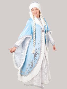 Премиум костюм снегурочки