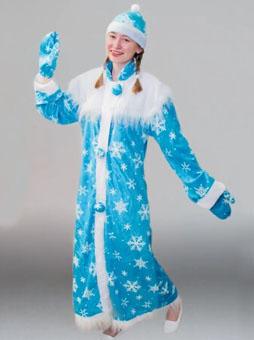 простой костюм снегурочки