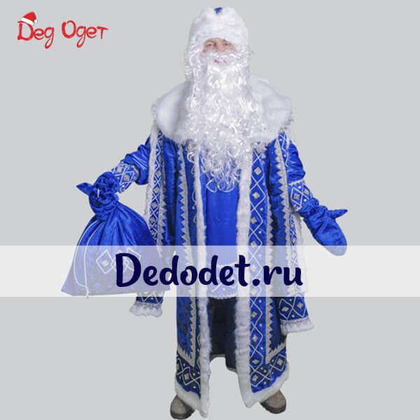 Кремлевский костюм Деда Мороза в синем цвете