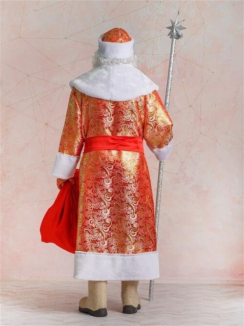 Золотой костюм Деда Мороза вид сзади